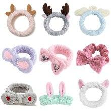 Wash Face Headband Letter Soft Warm Bow Makeup Hairbands Animal Ears Girls Elastic Holder Hair Bands Turban Hair Accessories