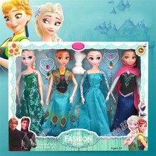 Neue 31cm Spielzeug Prinzessin Anna & Elsa Puppe Mädchen 12 Bewegliche Gelenke Geburtstag Geschenke Nette Mädchen Pelucia Boneca Juguetes titto Geschenk Set