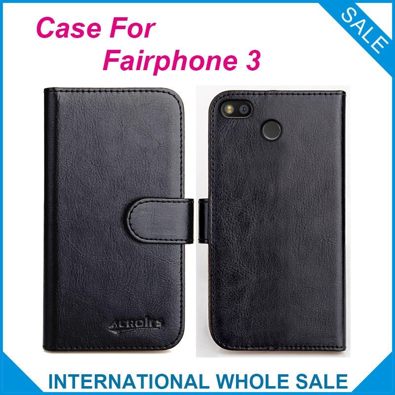 ¡Original! Funda Cartera de cuero con tapa de 6 colores de alta calidad para teléfono con 3 ranuras para teléfono