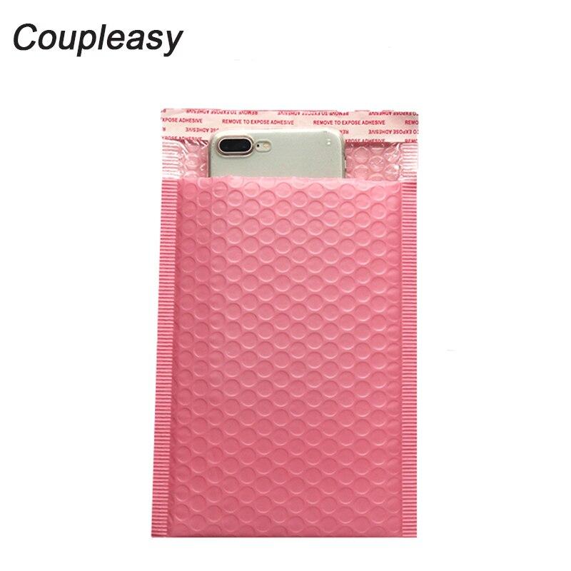 Envelopes para mailer de bolhas, envelopes de plástico rosa com bolha, à prova de choque, embalagem de correio, auto selagem, envelopes acolchoados, 100