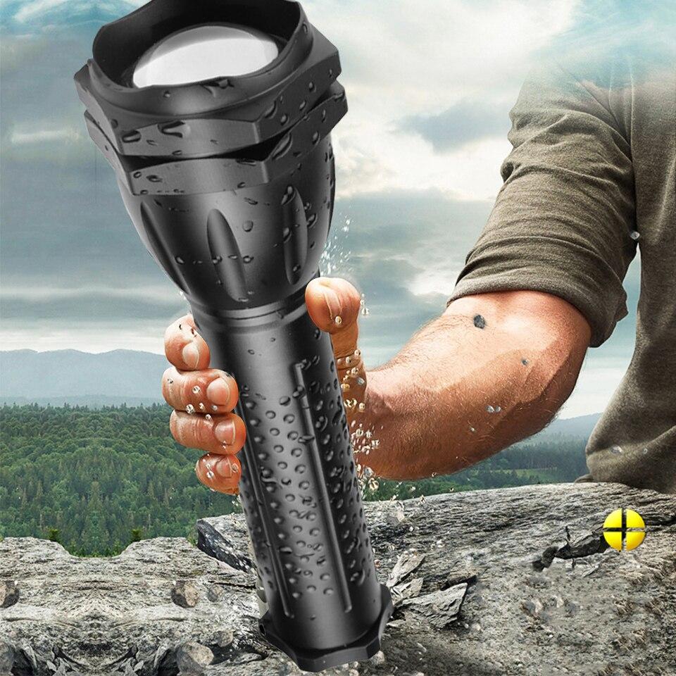 The Most Powerful XHP90.2 LED Flashlight Lantern Zoom Waterproof Light Tactical Torch Bulbs Litwod Self Defense Adjustable 30W