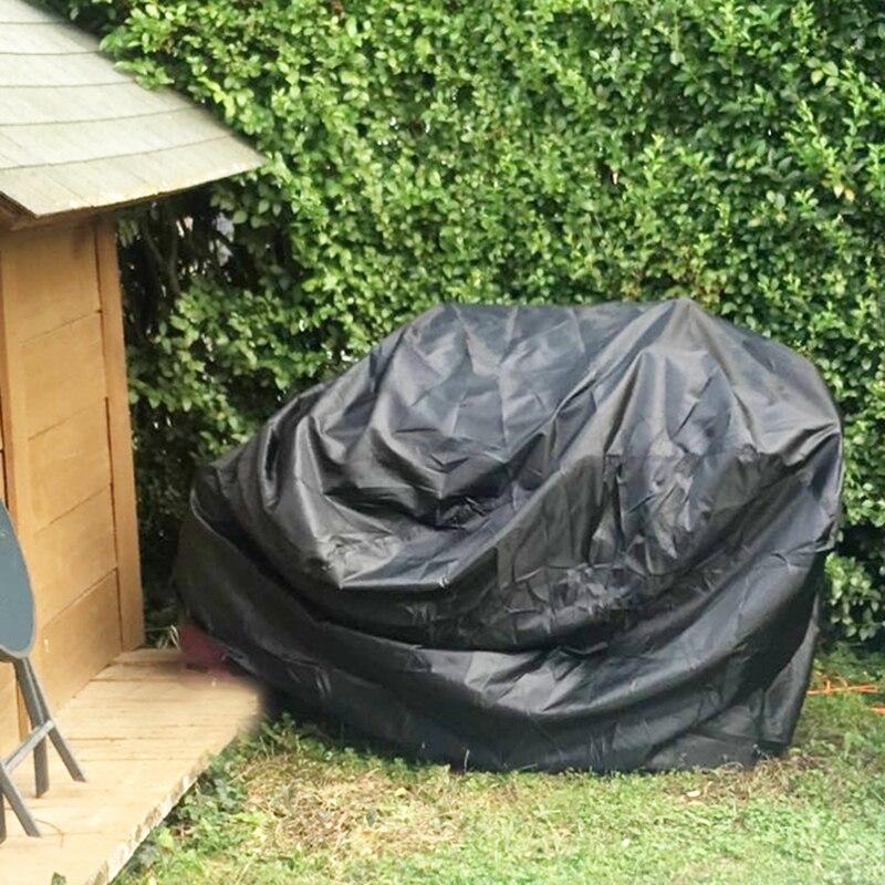 Barbacoa parrilla Barbacoa cubierta de polvo negro impermeable al aire libre lluvia...