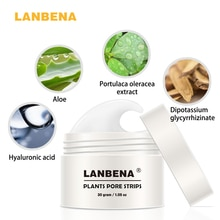 LANBENA Blackhead Remover Nose Mask Pore Strip Black Mask Peeling Acne Treatment Black Deep Cleaning