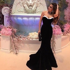 Prom Evening Celebrity Dresses 2020 Woman's Party Night Cocktail Long Mermaid Dresses Plus Size Dubai Arabic Formal Dress