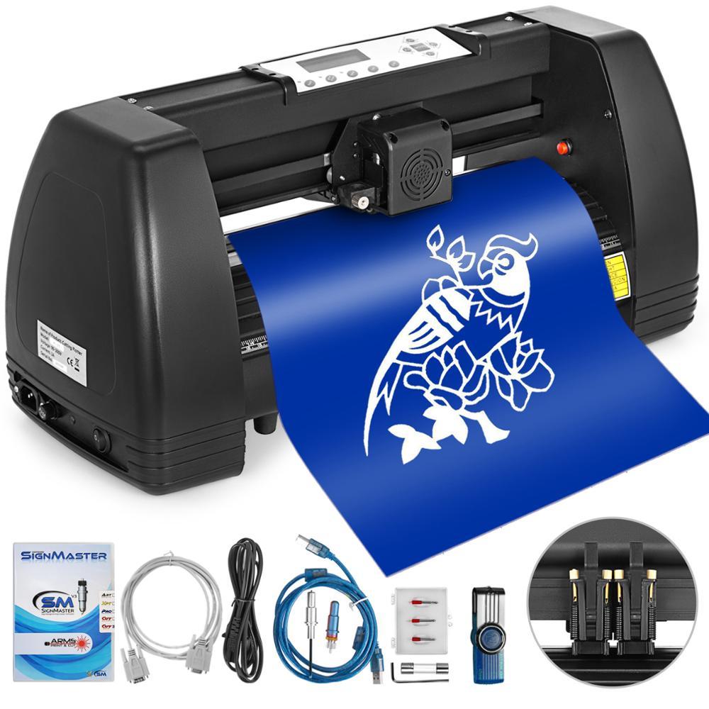 VEVOR Vinyl Cutter 14 Inch Plotter Maschine 350mm Papier Feed Vinyl Cutter Plotter Signmaster Software Zeichen, Der Maschine