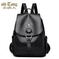 OLD TANG Large Capacity Backpack Women Bags For Women 2020 Women\'s Leather Backpack School Bag For Girl Zipper Fashion Mochila