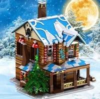 hot 3693pcs new arrival christmas house model building blocks toys for children christmas gifts building blocks