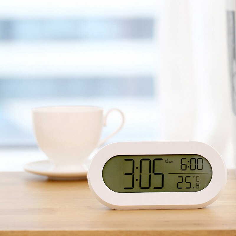 AliExpress - Creative Alarm Clock Students With Electronic Silent Clock Watch Children's Bedroom Bedside Clocks Luminous Orologio Decorativo