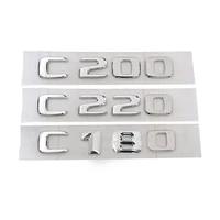 for mercedes c class c180 c200 c220 3d car trunk emblem badge chrome letters car model refitting badge sticker emblems