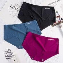Nouveauté sans couture glace soie culottes femmes slips Nylon Ultra-mince taille basse Lingerie slips dame sous-vêtements 12 couleur livraison directe
