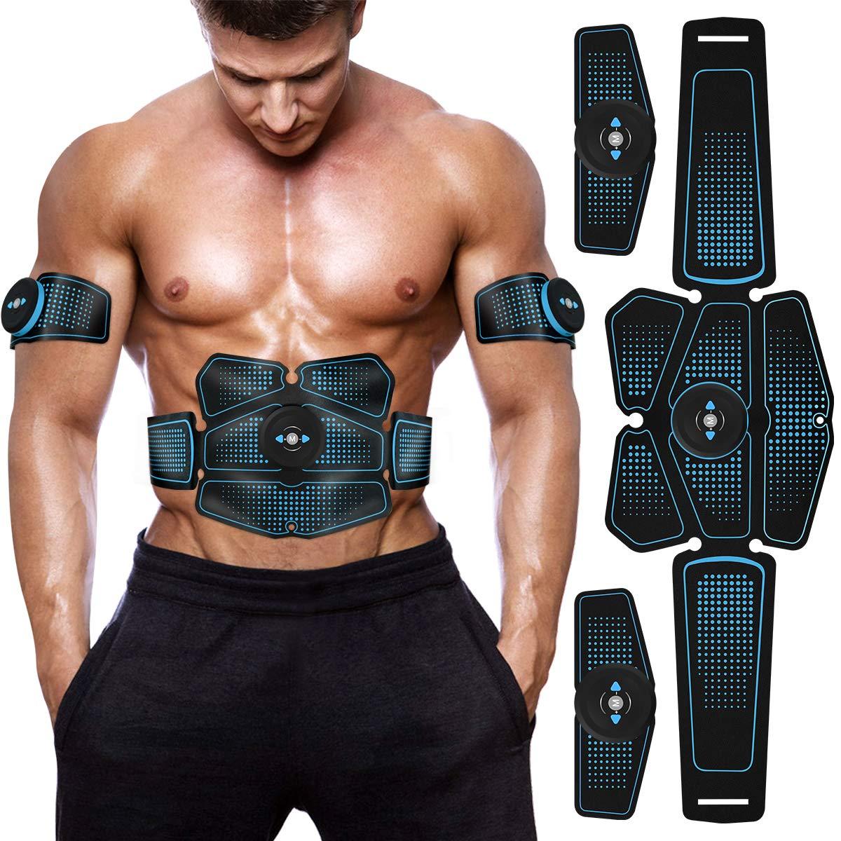 Máquina Eléctrica de Tóner para musculación de equipos de Fitness, cinta tonificadora inalámbrica, 6 quemadores de grasa en paquete, máquina EMS