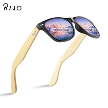14 color wooden sunglasses men and women square bamboo sunglasses men's mirror sunglasses retro blue