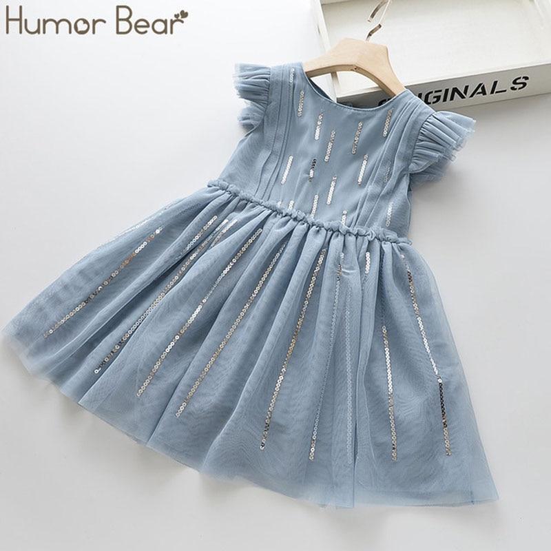 aliexpress - Humor Bear Summer Brand New Girls Dress Flowers Lace Silk Dress Fashion Girls Round Neck Flying Sleeve Dress Baby Kids Clothing