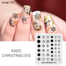 KADS 18 Design ongles estampage plaques noël et Halloween Style conception Nail Art timbre Image pochoir ongles outil manucure plaque