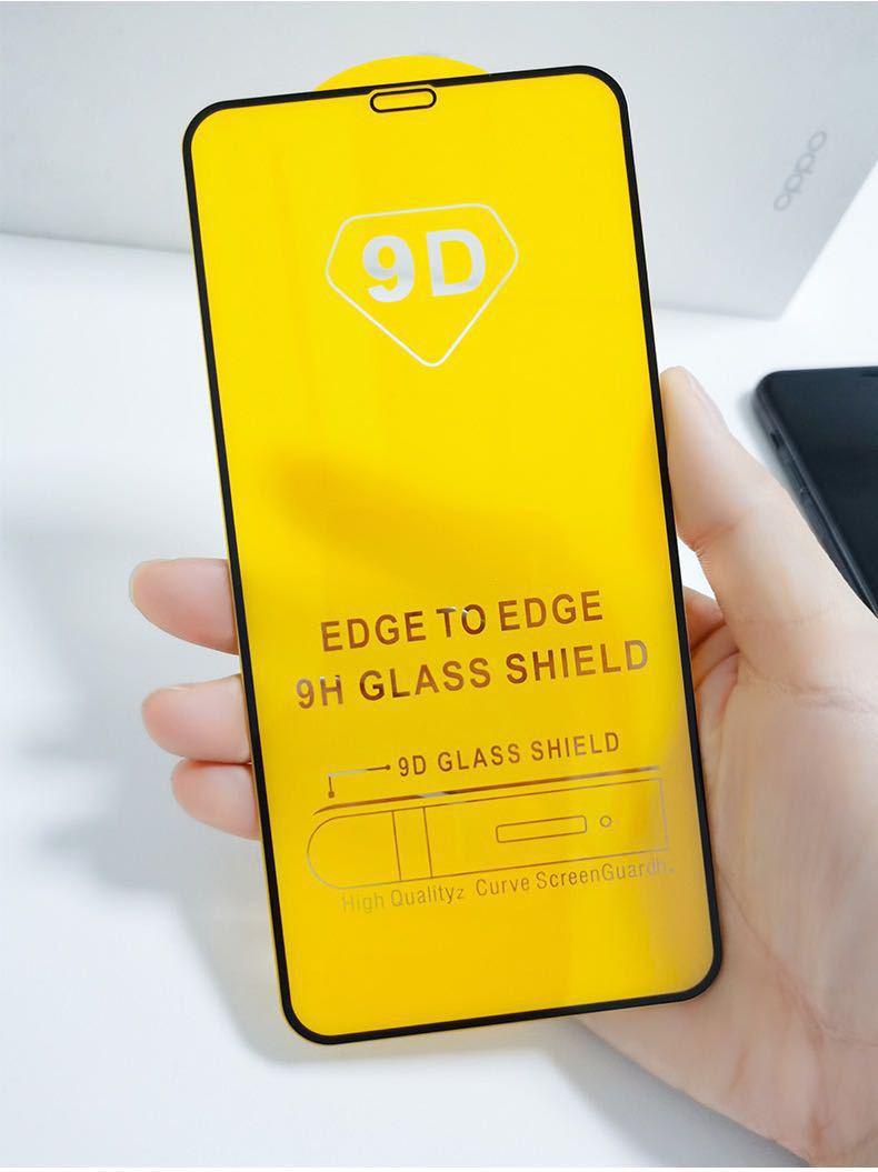 100pcs 9D Protector de pantalla de vidrio templado para iphone 12 pro...