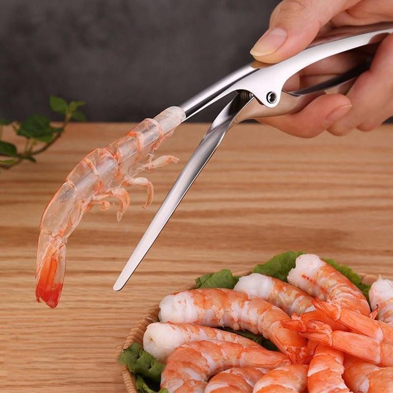 Gadgets Shrimp Peeler Stainless Steel Prawn Peeling Plier Deveiners Crayfish Stripping Peelers Peel Kitchen Seafood Tools