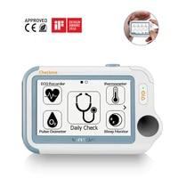 checkme pro sleep apnea portable ecg monitor home use vital signs monitor cleared ekg holter monitoring heart rate