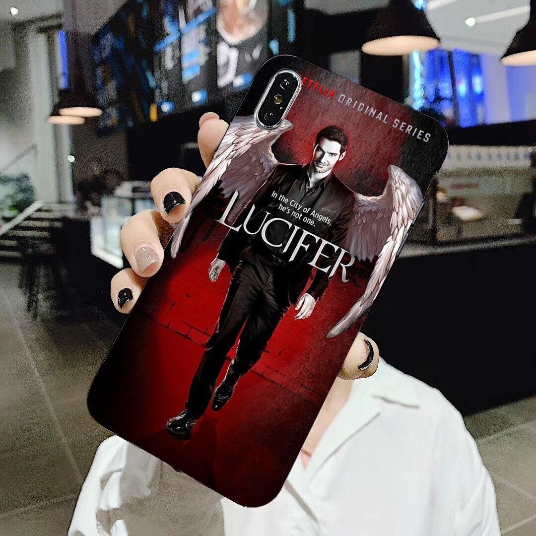 Funda de silicona para teléfono serie TV Lucifer ghost para Huawei Mate Honor 4C 5C 5X 6X 7 7A 7C 8 9 10 8C 8X 20 Lite Pro