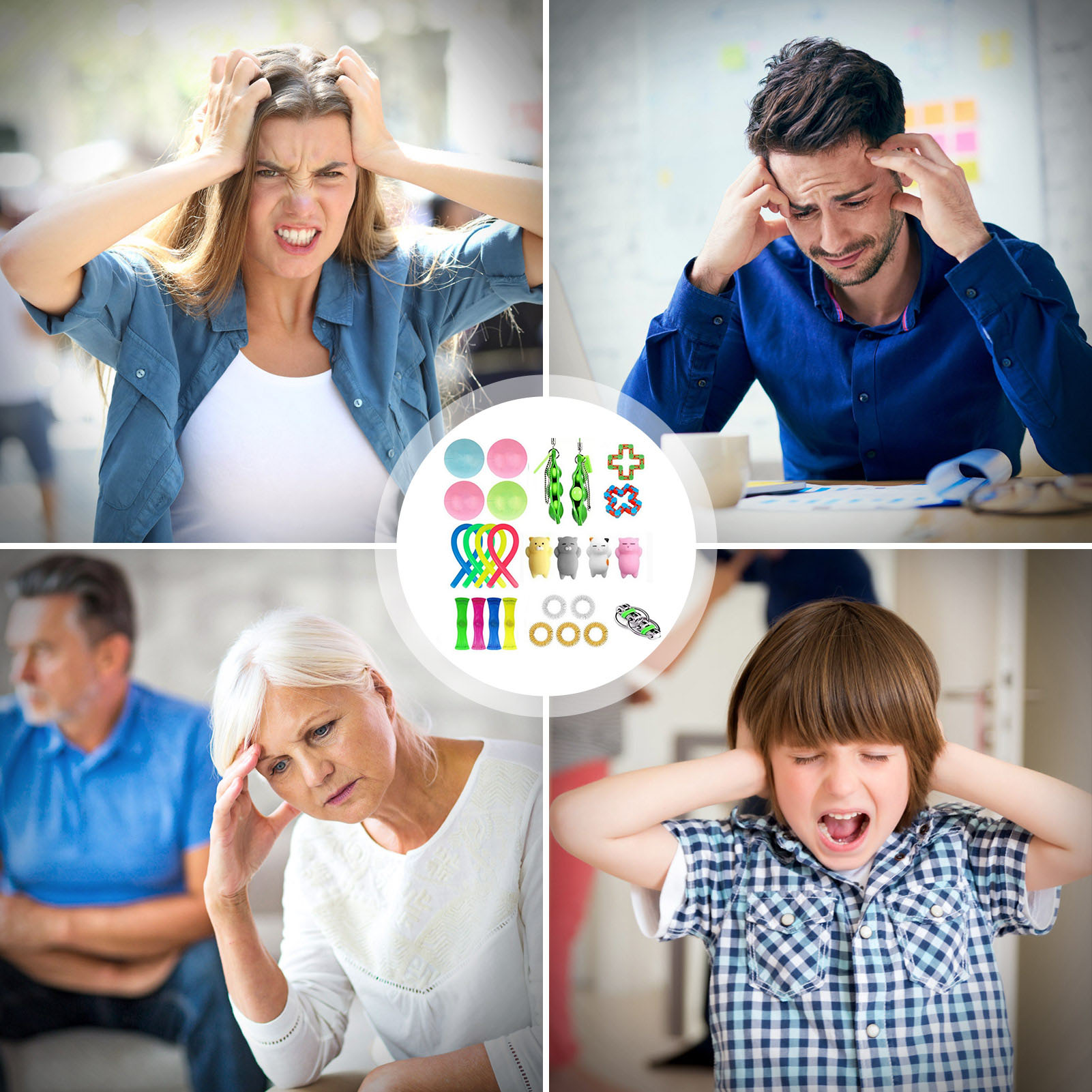 26PCS Fidget Push Pops Bubble Sensory Toy For Autism Stress Reliever Toys Adult Kid Funny Anti-stress Kids Toys enlarge