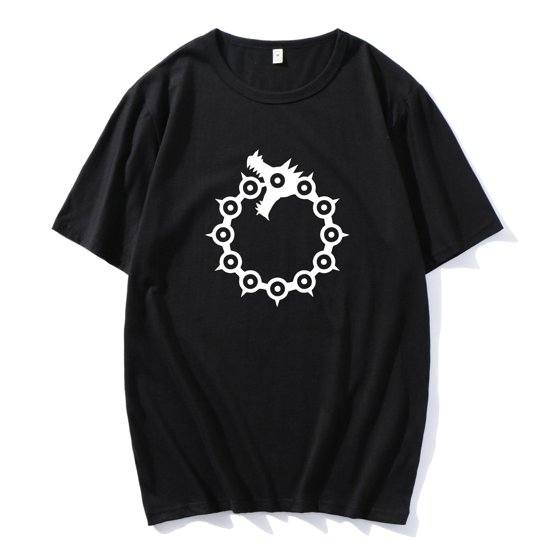 Nanatsu No Taizai Dragon's Sin of Wrath Men Women Fashion Hip Hop Loose T-Shirt Tops Anime 2021 The Seven Deadly Sins T Shirt neil t anderson the bondage breaker overcoming negative thoughts irrational feelings habitual sins unabridged