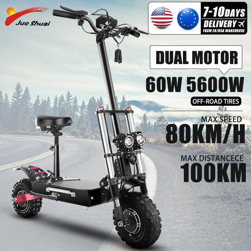Patinete eléctrico plegable 3200W60V para Adulto, Scooter de 11 pulgadas, neumático todoterreno,...