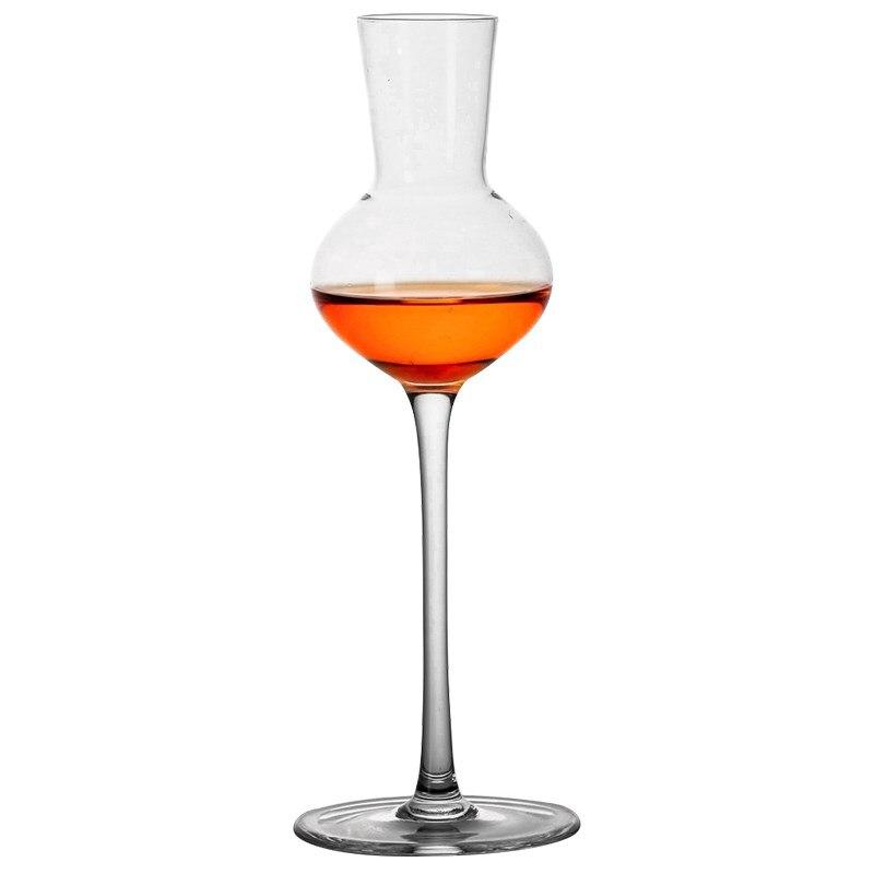 شحن مجاني 4 قطعة 140 مللي توليب الزجاج زجاجات الشمبانيا المربعة قدح للويسكي Copita الإشتمام طقم كؤوس من 4
