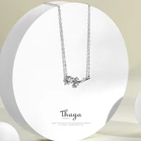 thaya dandelion engagement jewelry sets 100 925 sterling silver zircon white ring necklace sets for women elegant jewelry