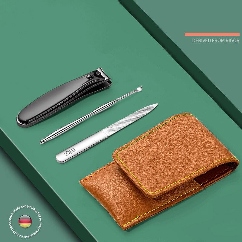 tesoura de cuticula aco inoxidavel 3 in1 preto conjunto portatil cortador unha manicure