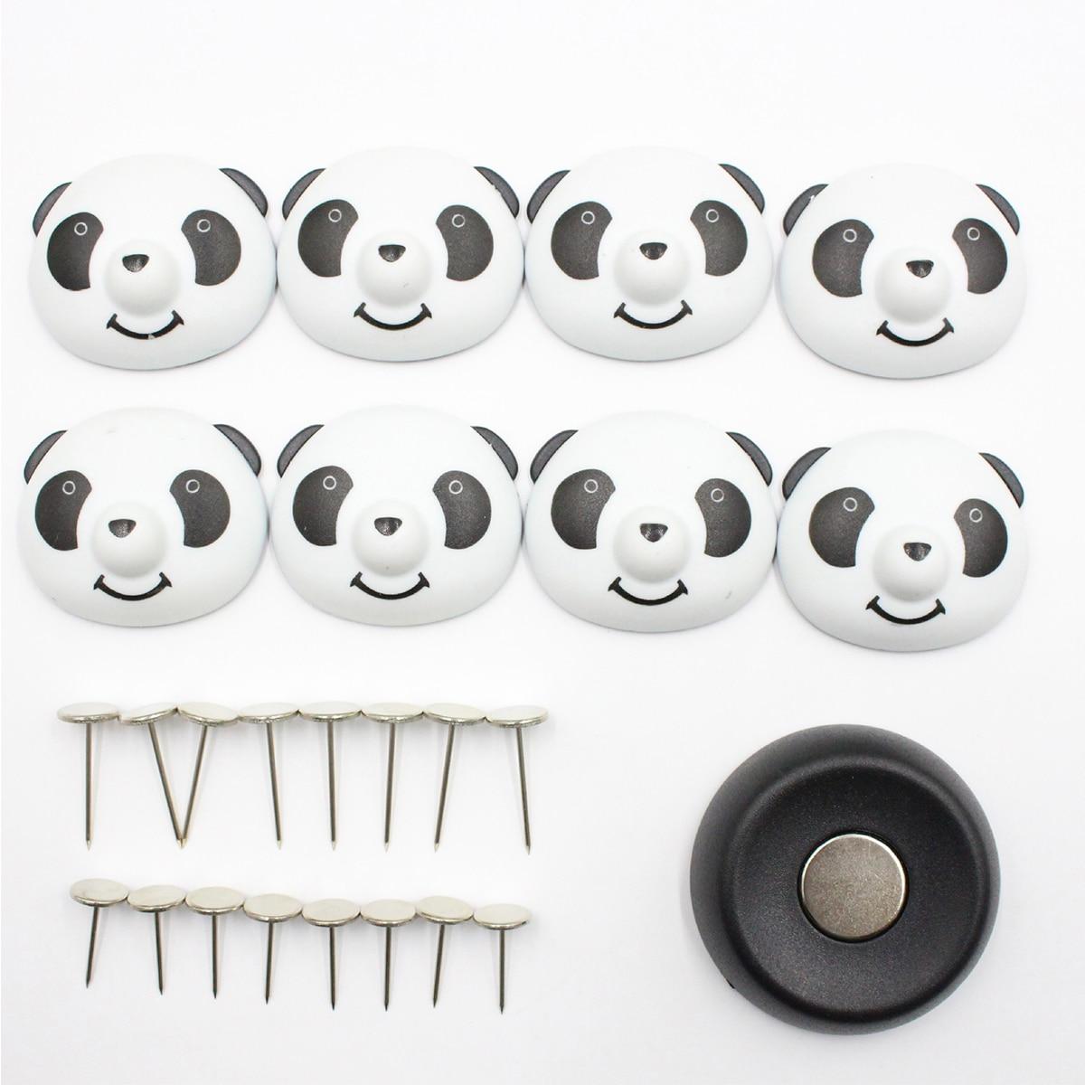 8 Uds pinza para edredón Panda con 16 Pines, fijador de sábanas antideslizante, cubierta de edredón, pinzas magnéticas Anti-movimiento para ropa