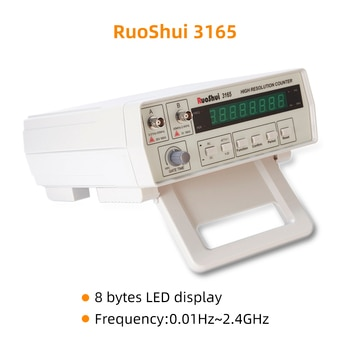RuoShui VC3165 Benchtop Highe Frequency Counter Resolution Meter 2.4GHz 8-digit LED digital cymometer AC DC Electrical