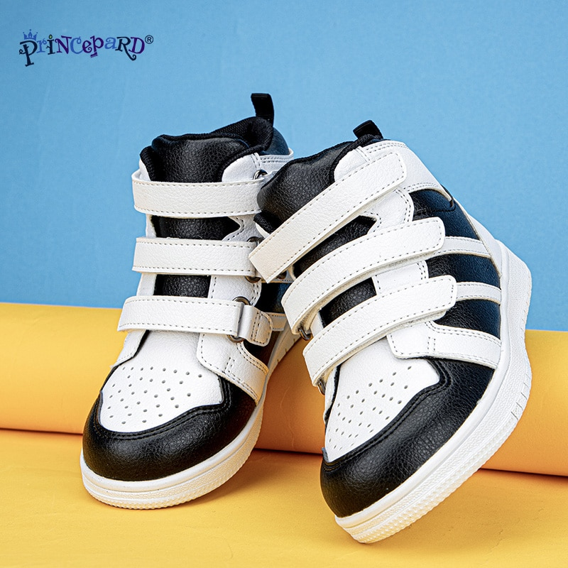 PRINCE PARD 2020 Kids Orthopedic Shoes Sneakers for Clubfoot Foot Care Black White Children's Casual Shoes with Ankle Support enlarge