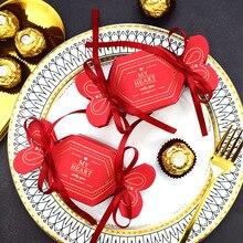 Bonbonnière en papier pour bonbonnière   Nouveaux sacs cadeaux et dragées pour mariage, fête prénatale anniversaire, fournitures de fête Elmo, nouvelle collection