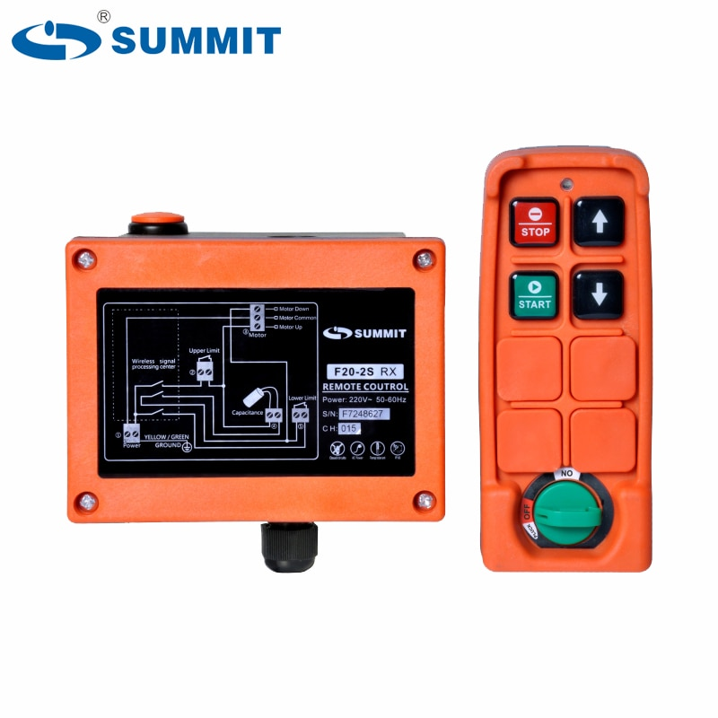 SUMMIT F20-2S 1 axis  single speed up and down  mini micro electric hoist winch lift radio remote control F20-2S