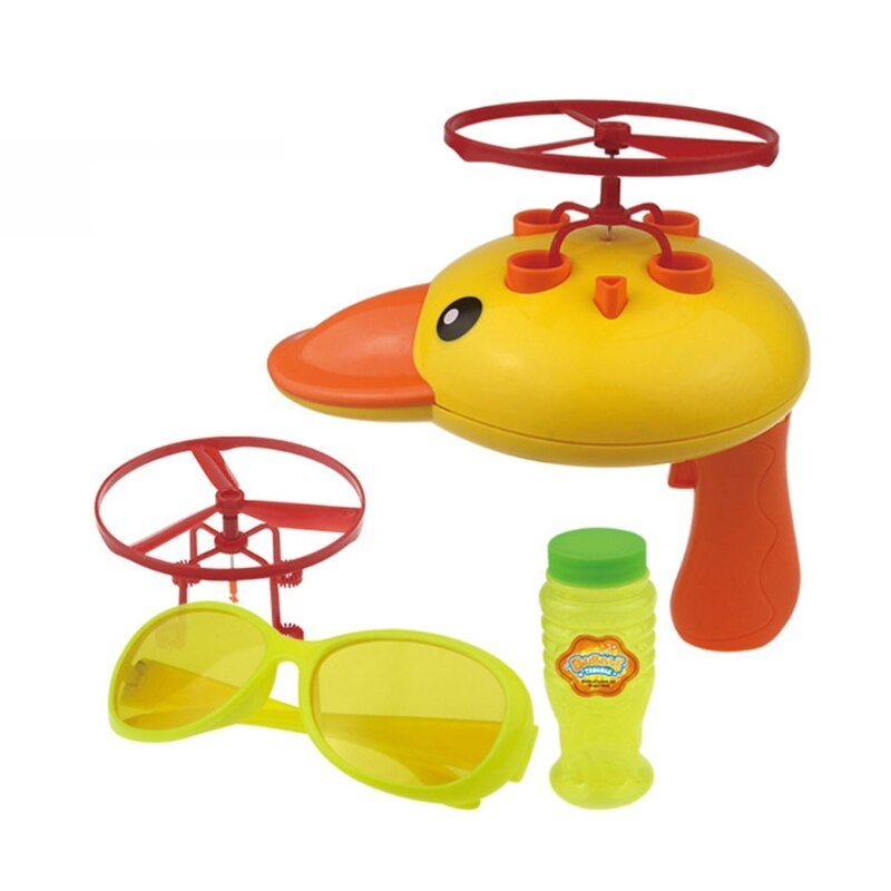 Outdoor Game for Toddler Automatic Bubble Stick Waterproof Flying Propeller Bubble Toy Bubble Blowing Machine Duck Toy electric blowing bubble stick toy automatic magic stick bubble machine children blowing bubble outdoor toy