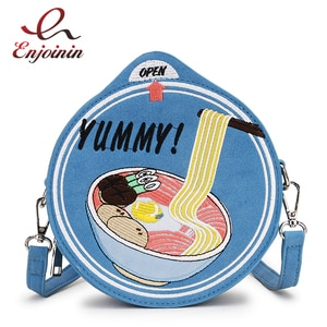 Cute Cup Noodle Shaped Crossbody Bag Girl Women Purses and Handbags Novelty Funny Fashion Shoulder Bag Embroidered Clutch 2021