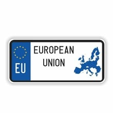 Popular Car Stickers Hot Sell Personality European Union Car Sticker Decal Motorcycle Reflective Acc