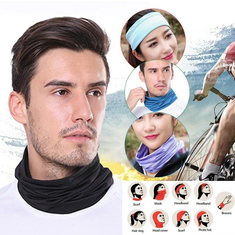 2020 Multifunctional Outdoor Sport Magic Scarf Neck Warmer Tube Hiking Cycling Face Head Wrap Cover Bandana Balaclava Headband