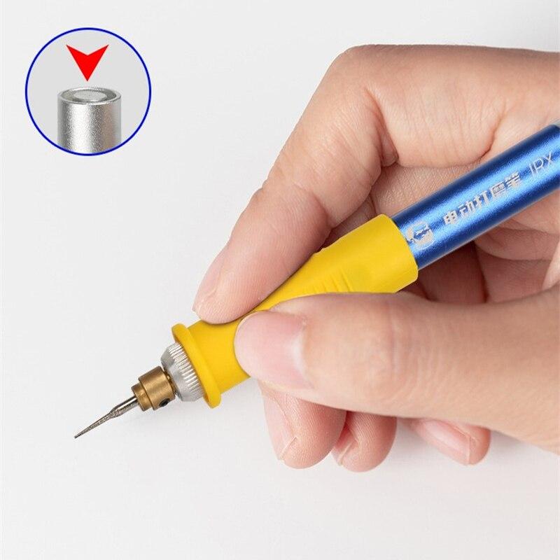 ميكانيكي قابلة للشحن IC البولندية أداة صغيرة مطحنة كهربائية النقش القلم للهاتف المحمول CPU NAND فلاش طحن إزالة أداة