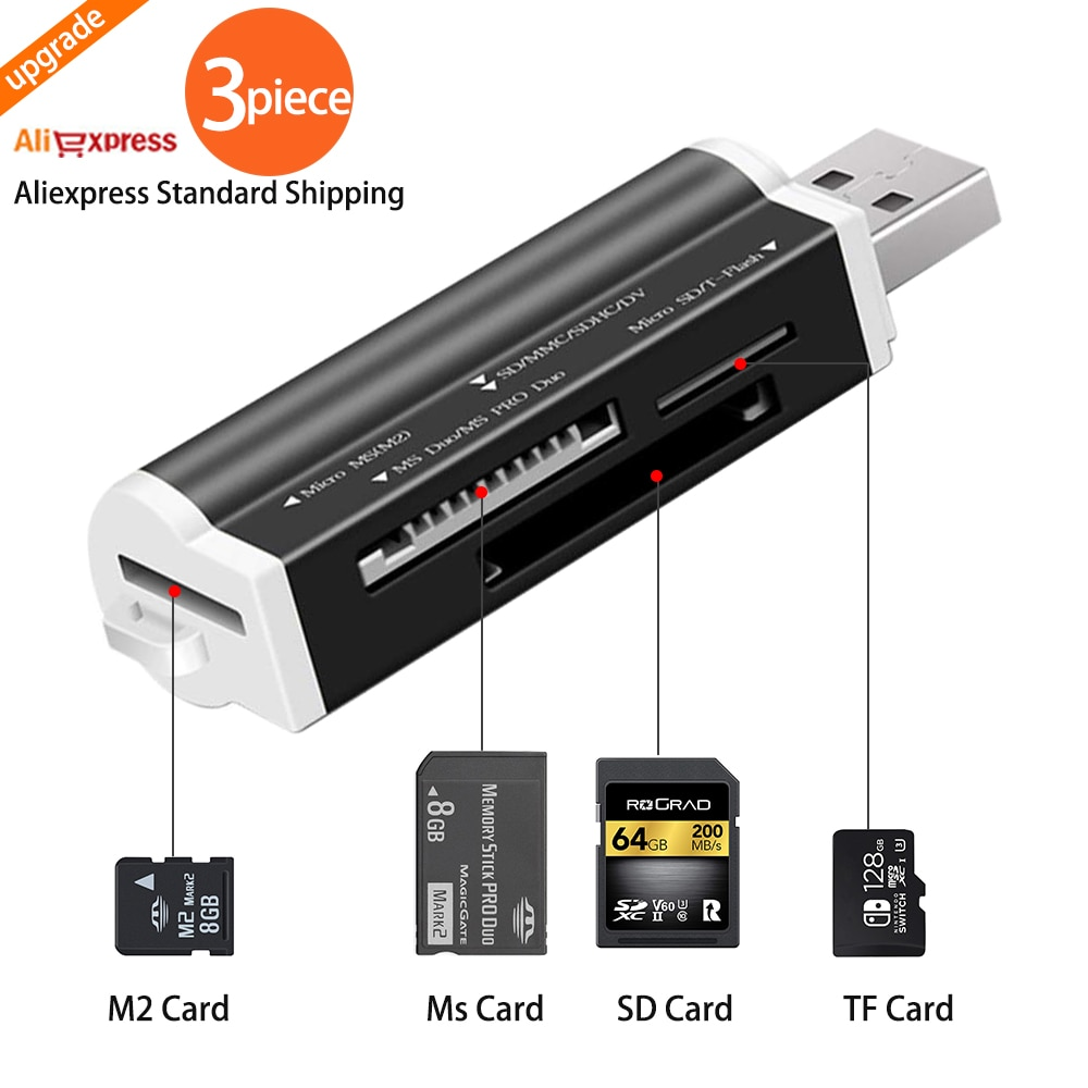 USB 2.0 Micro SD Card Reader for TF Adapter Plug and Play Laptop Desktop pc