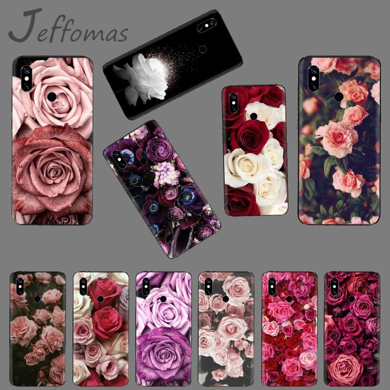 Funda de flores retro rosa para teléfono Xiaomi Mi A1 A2 5 6 6plus 8 9 SE Lite MIX 2 2S MAX 2 3 pocofone F1