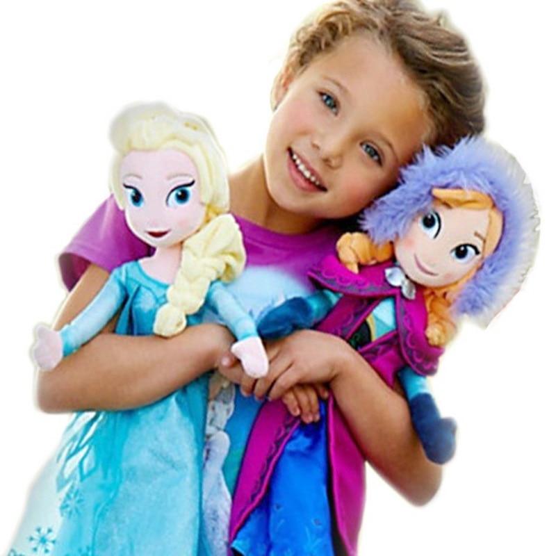 40/50CM Frozen2 Princess Anna Elsa Dolls Snow Queen Princess Anna Elsa Doll Toys Stuffed Frozen Plush Kids Toys Christmas Gifts