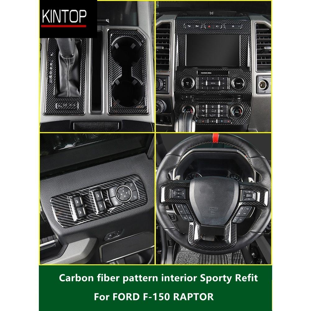 For FORD F-150 RAPTOR 15-19 ABS Carbon fiber pattern interior Sporty Refit,Pickup
