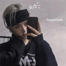 INS Super Hot Internet Celebrity Same Style Ruan Handsome Decadent Dark World-Tired Headscarf Casual