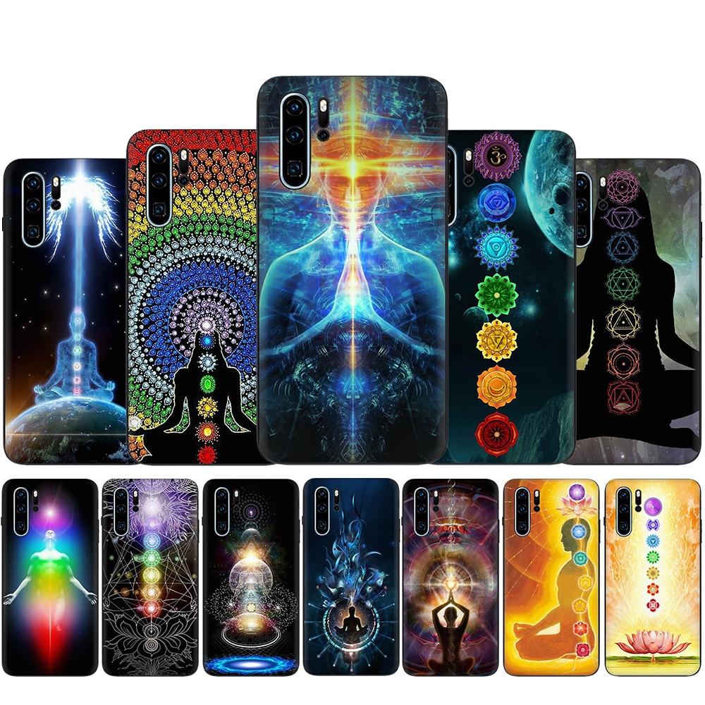 Mandala Chakra en Yoga suave funda de silicona del teléfono para Huawei P8 P9 Lite Mini P10 P20 P30 Lite Pro P Smart Z Plus