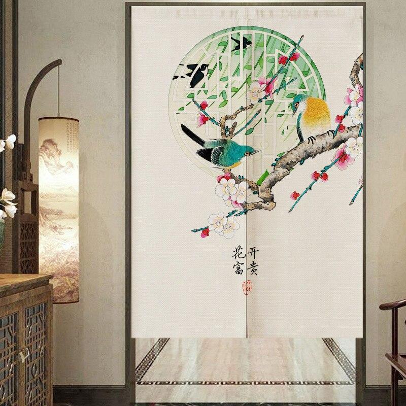 النمط الصيني ستارة الباب غرفة نوم الحمام المرحاض ستارة الباب غرفة المعيشة التقسيم الستار ستارة مطبخ فنغ شوي الستار