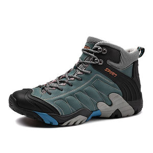 Brand Outdoor Leather Hiking Shoes Men Work Shoes Trekking Boots For Male Keep Warm Men's Boots Non Slip Mountain Climbing Shoes