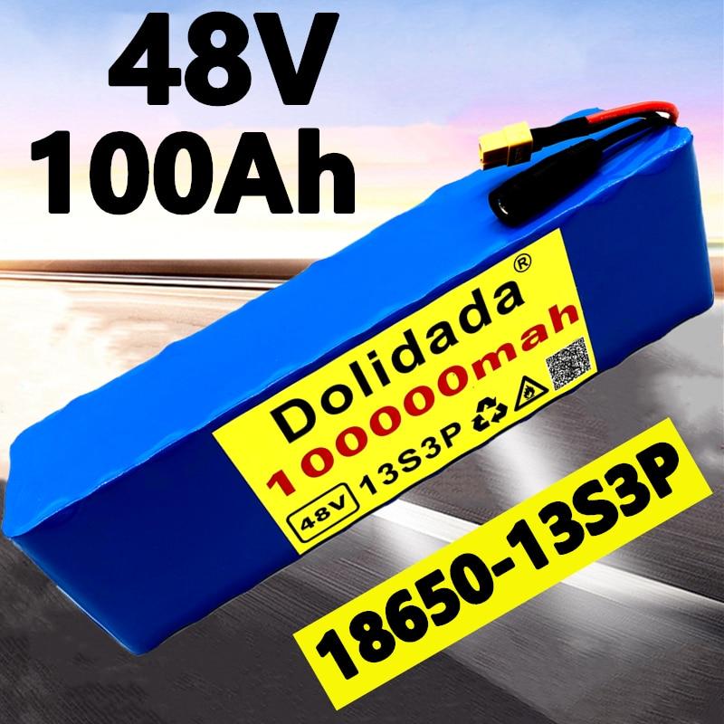 2021 48V100Ah 1000w 13S3P XT60 48V بطارية أيون الليثيوم حزمة 100000mah ل 54.6v E-دراجة هوائية كهربائية سكوتر