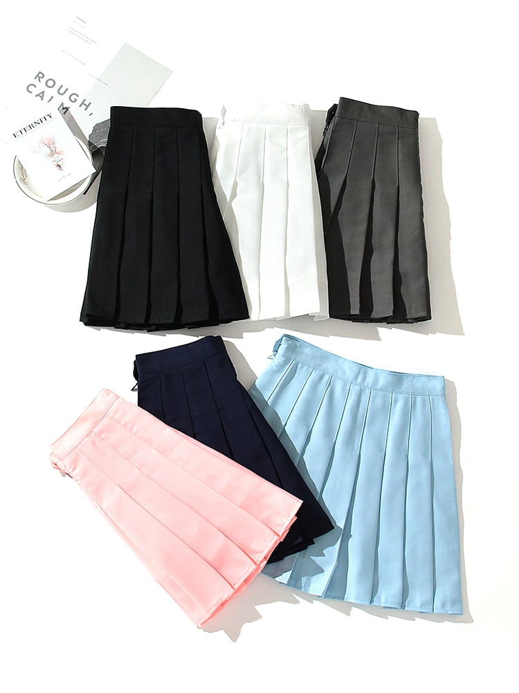 XS-3XL Women Skirt Fashion High Waist Pleated Skirt Sweet Cute Girls Dance Mini Skirt Cosplay Preppy Uniform School Short Skirts women skirt fashion high waist pleated skirt sweet cute girls dance mini skirt cosplay preppy uniform school short skirts