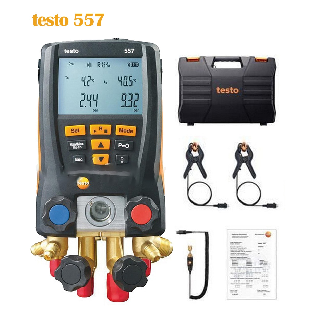 Testo 557 مقياس الضغط الرقمي للتبريد تكييف الهواء التبريد المنوع المشبك التحقيق عدة اختبار درجة الحرارة أداة