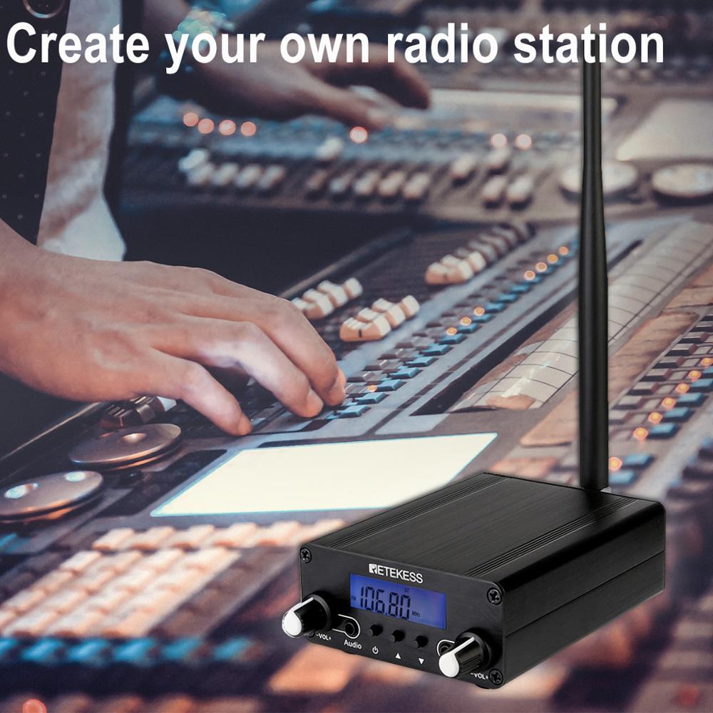 Retekess TR508 For Drive-in Church FM Transmitter Wireless Broadcast Stereo Station Long Range Transmitter Drive-in Cinemas enlarge